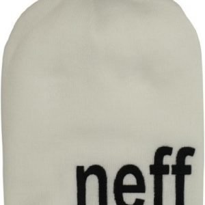 Neff Logo White Beanie