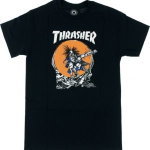 Thrasher Magazine Outlaw Black T-Shirt – Small