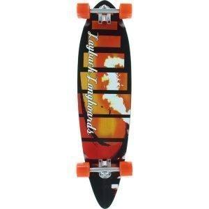 Layback Red Tide Longboard Complete