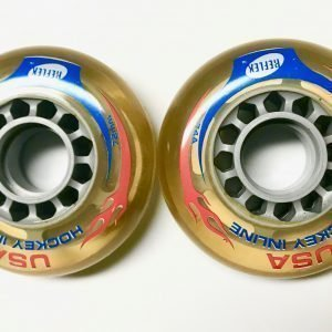 USA Reflex Hockey Inline Wheels 72mm/74a (set of 8)