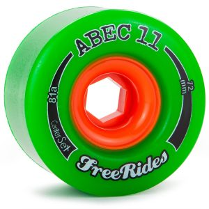 Abec 11 Freeride Wheels 72mm 78a center set