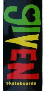 Given 8.0″ Rasta Deck
